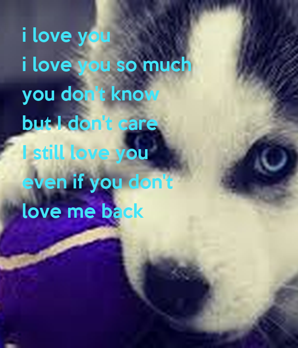 don t you know i love you so