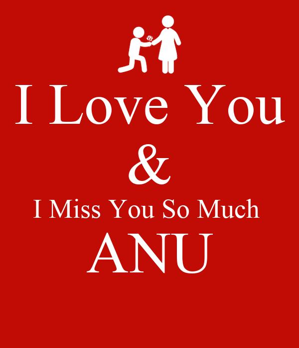 I Love You I Miss You So Much Anu Poster Nanuu Keep Calm O Matic
