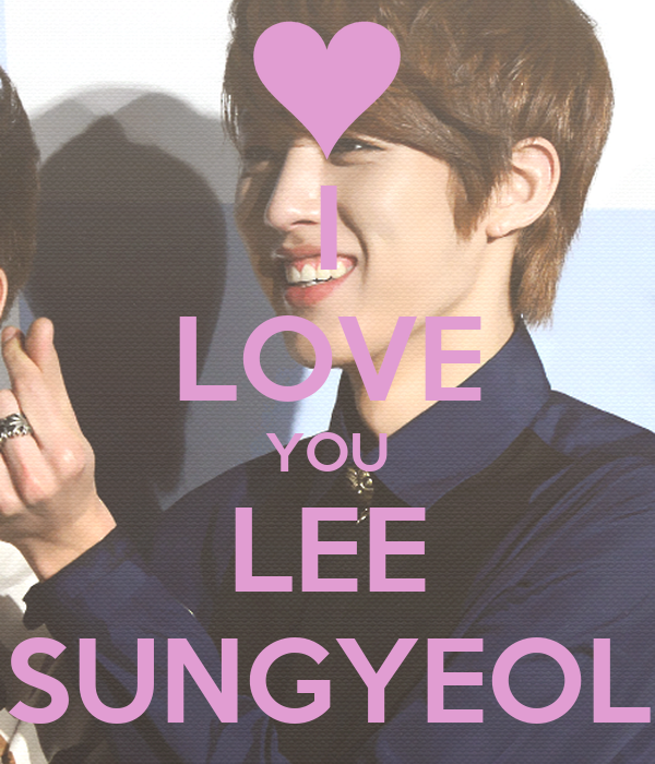 Lee Sungyeol Love i Love You Lee Sungyeol