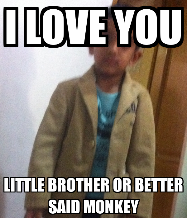 I Love You Little Brother Or Better Said Monkey Poster Zeerik