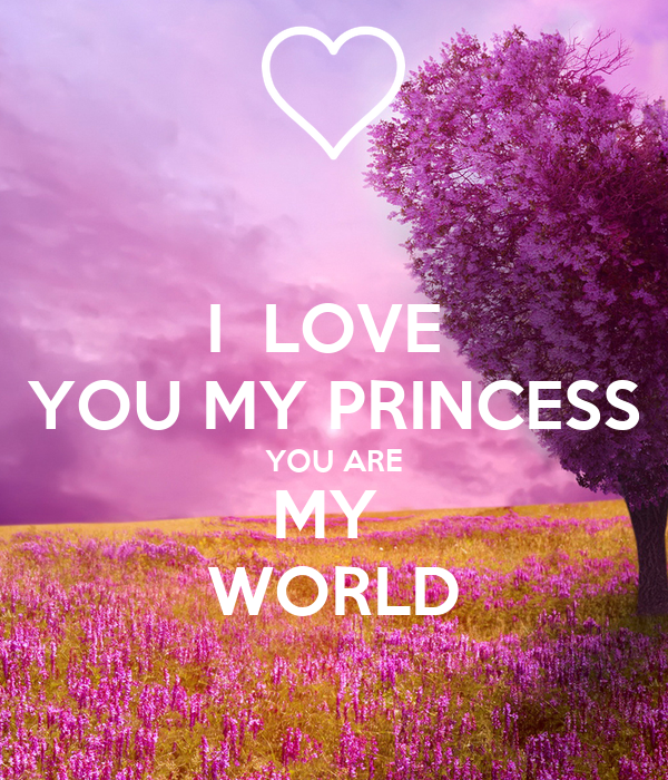 i love you my princess you are my world