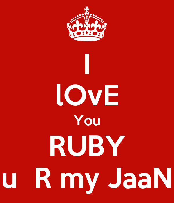 Where Is The Co U R: I LOvE You RUBY U R My JaaN Poster