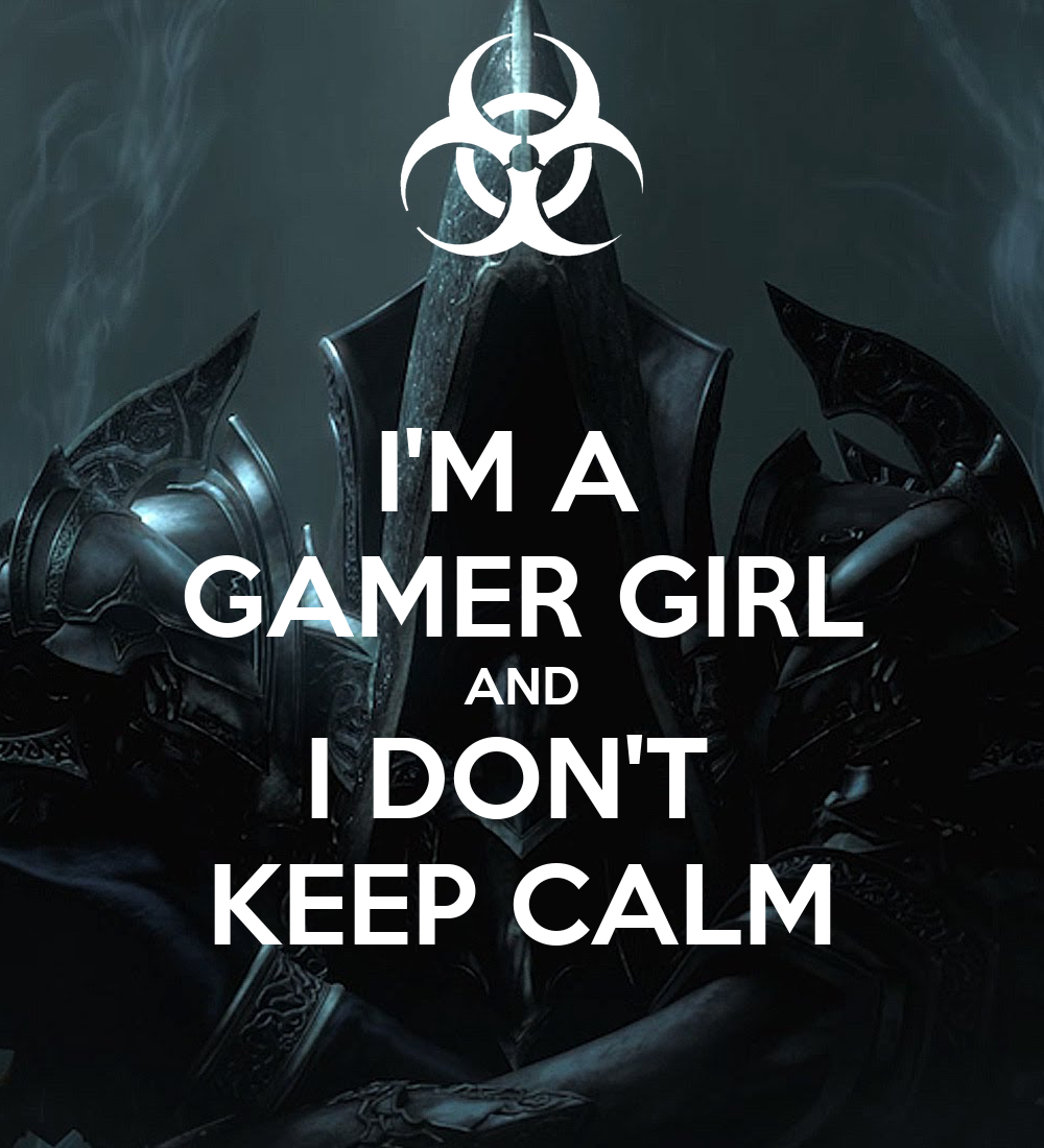 im a gamer girl and i dont keep calm poster antic