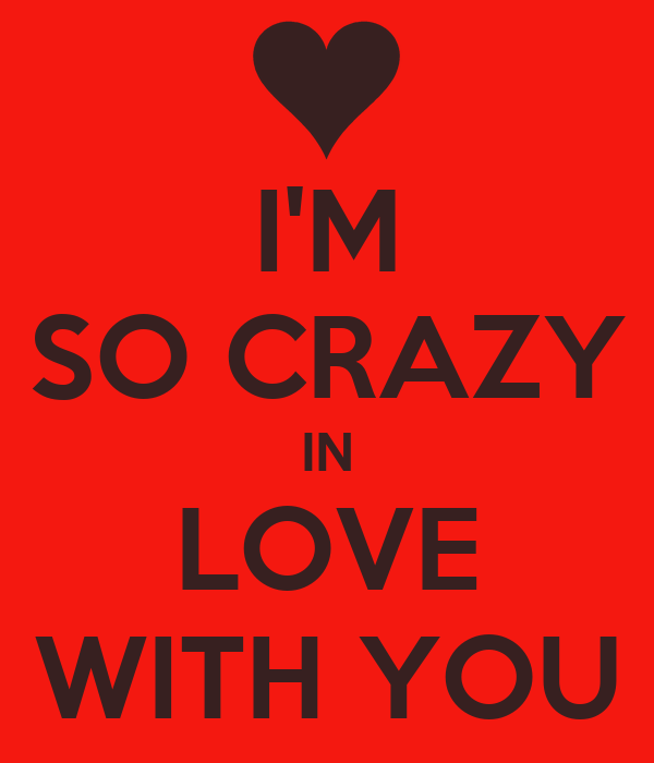 Im So Crazy In Love With You Poster Angel Keep Calm O Matic