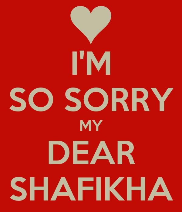 Sorry so