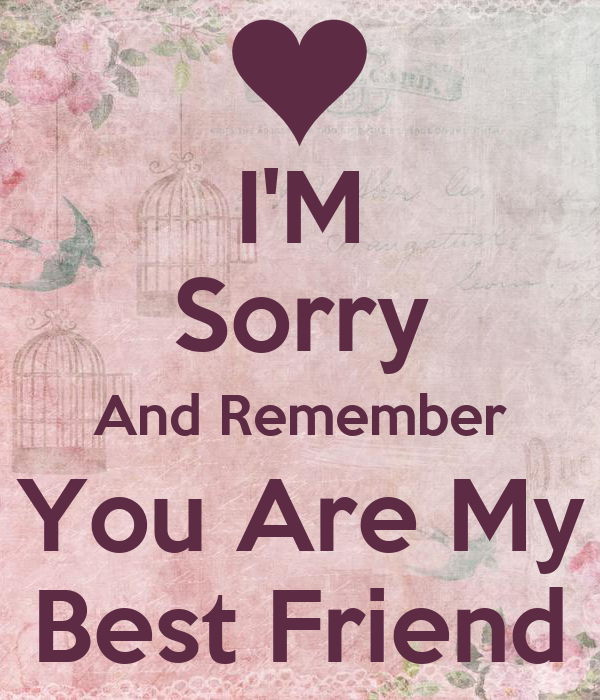Sorry Quotes For My Friends : Im sorry bff quotes quotesgram