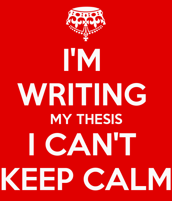 writing your thesis in When writing your master's thesis (or any report or paper), it's a good idea to write at least 1 or 2 sentences into the next topic before taking a break this can make it much easier to continue writing the next day.