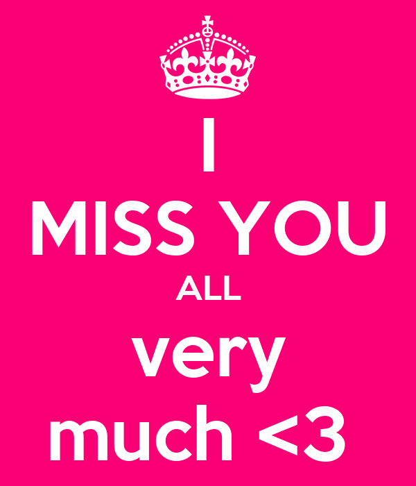 I Miss You All Very Much 3 Poster Jiji Keep Calm O Matic