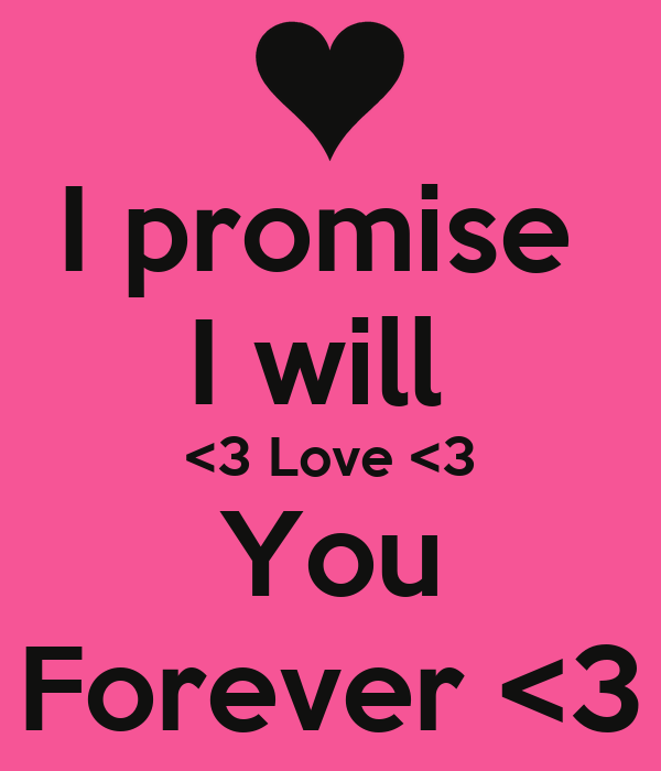I Will Love To You