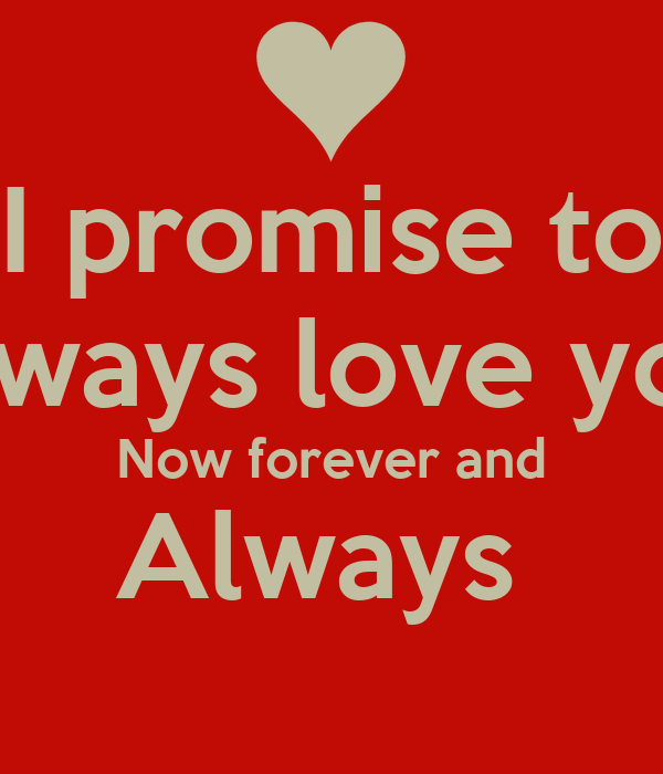 promise i love you