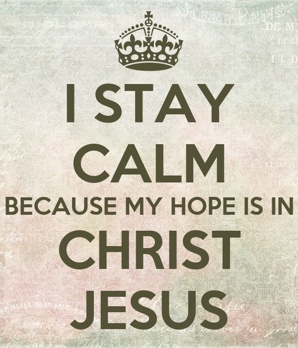 All my hope is in jesus