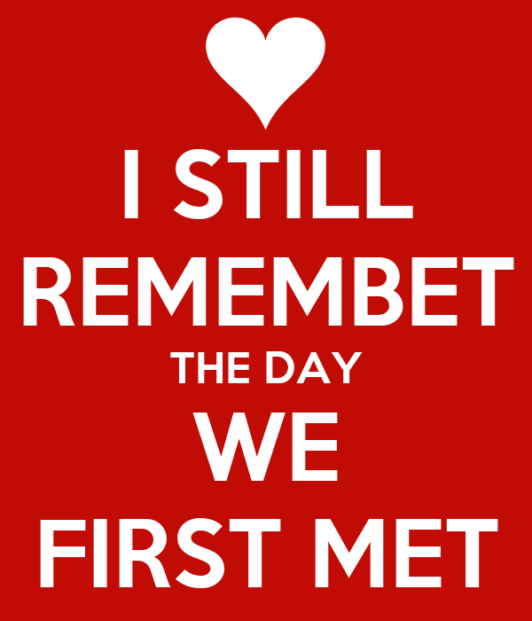 i still remember the day