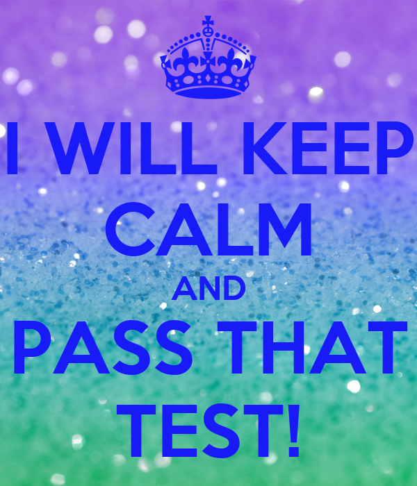how to pass the prove it test