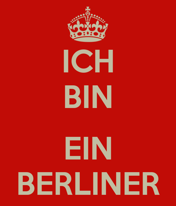 ich bin ein berliner poster woodymellor keep calm o matic. Black Bedroom Furniture Sets. Home Design Ideas
