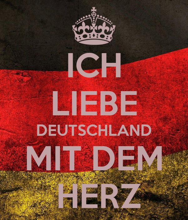 ich liebe deutschland mit dem herz poster andrea barbato. Black Bedroom Furniture Sets. Home Design Ideas