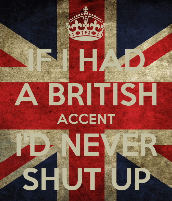 how to write a british accent