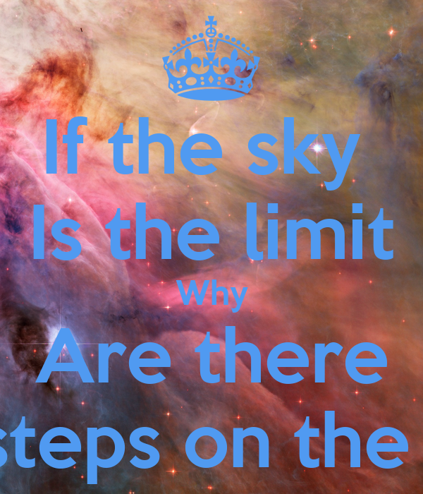 if the sky is the limit why are there foot steps on the moon poster christian casselll keep. Black Bedroom Furniture Sets. Home Design Ideas