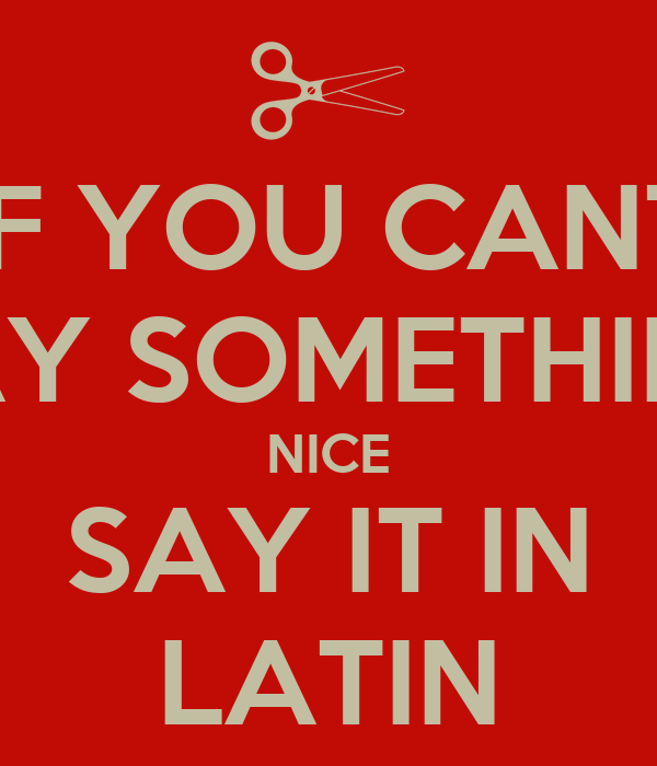 how to say create in latin