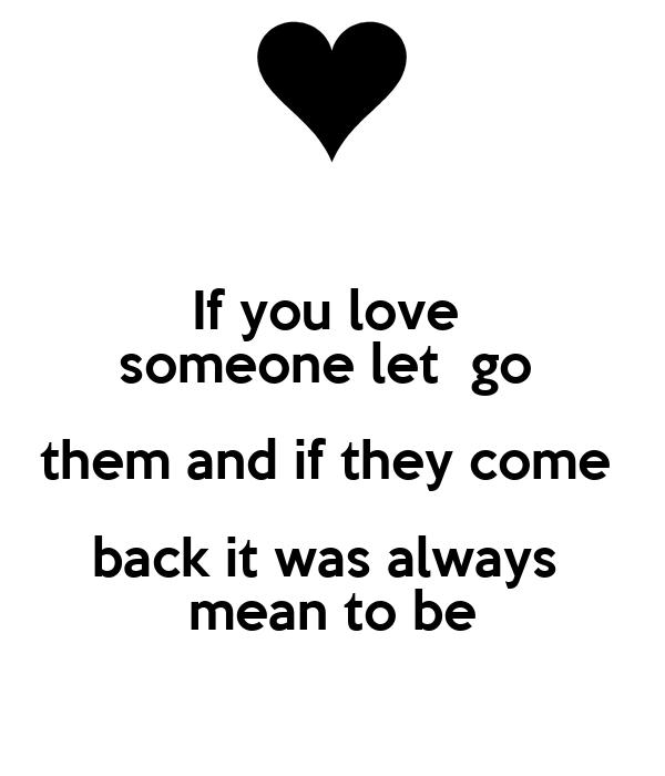 love someone let them go