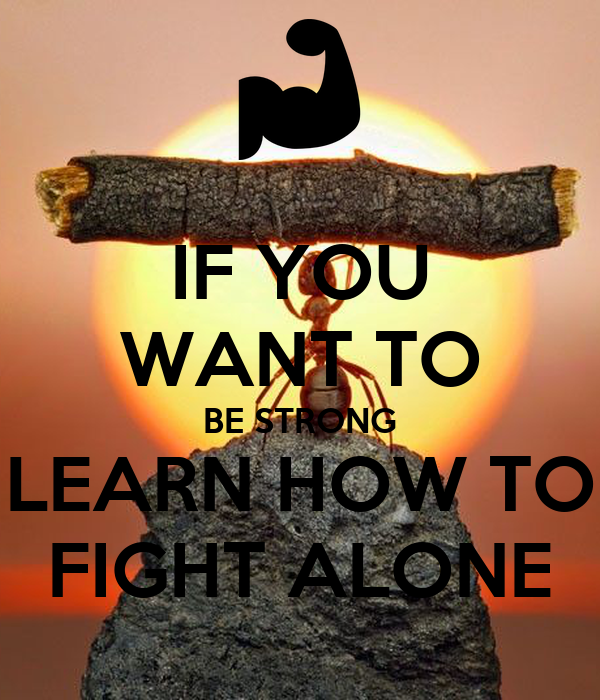 i want to be strong