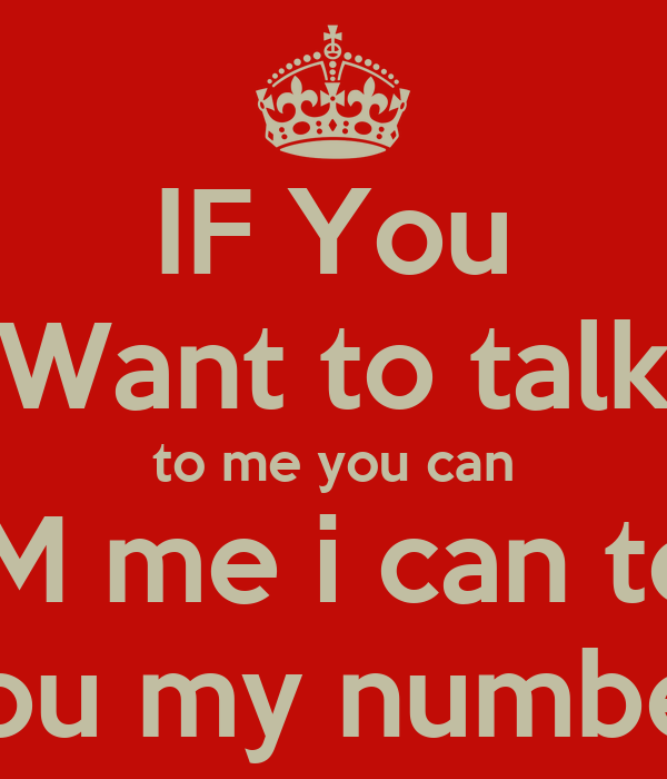 I want to chat