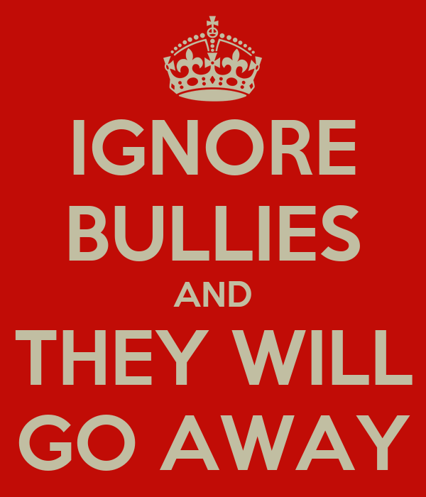 how to stay away from bullies