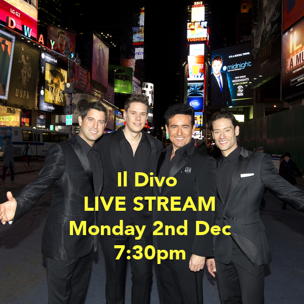 Il divo live stream monday 2nd dec 7 30pm poster ben jones keep calm o matic - Il divo streaming ...
