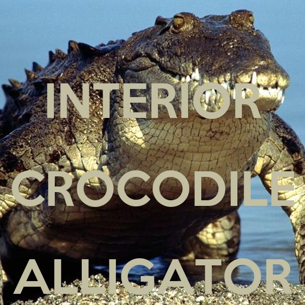 INTERIOR CROCODILE ALLIGATOR Poster shromp Keep Calm-o-Matic
