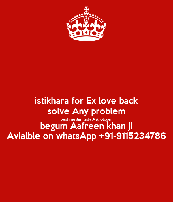 istikhara for Ex love back solve Any problem best muslim lady