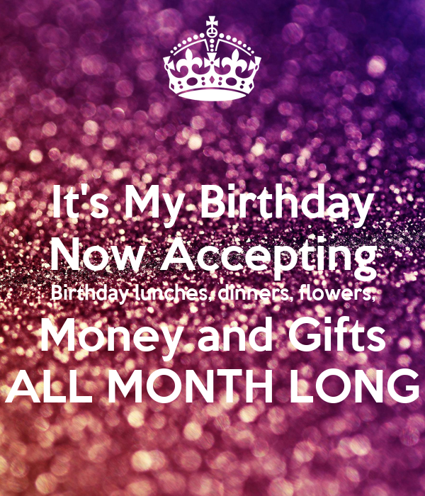It's My Birthday Now Accepting Birthday lunches, dinners ...