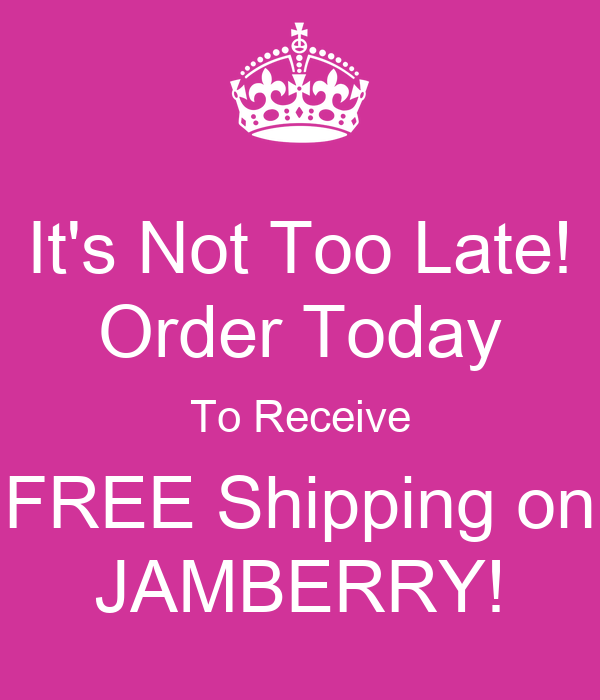 Free Shipping Today: It's Not Too Late! Order Today To Receive FREE Shipping On
