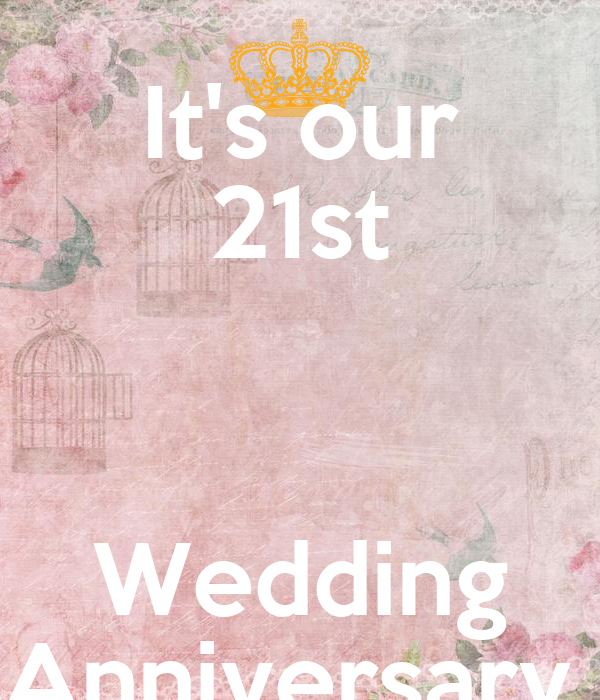 21 Wedding Anniversary Gifts: It's Our 21st Wedding Anniversary Poster