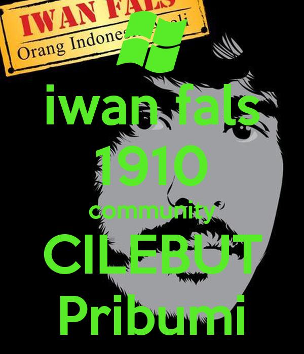 Iwan Fals 1910 Community Cilebut Pribumi Poster Oi Keep Calm O