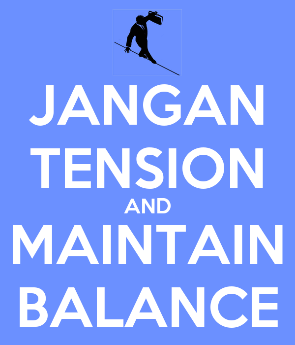 To keep your balance, you must keep moving