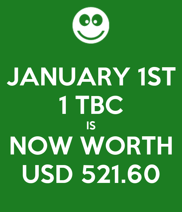 Tbc Is Now Worth Usd 521 60 Poster