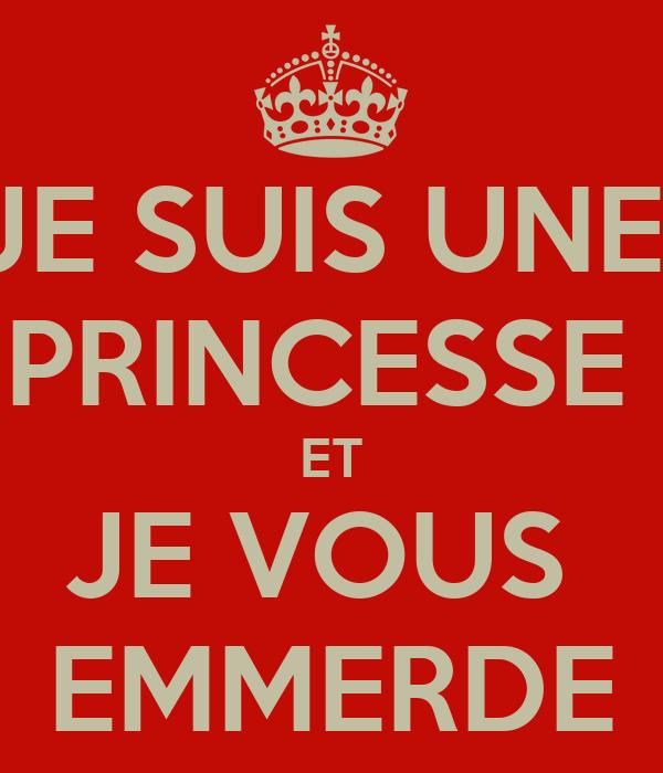 je suis une princesse et je vous emmerde poster nicolas keep calm o matic. Black Bedroom Furniture Sets. Home Design Ideas