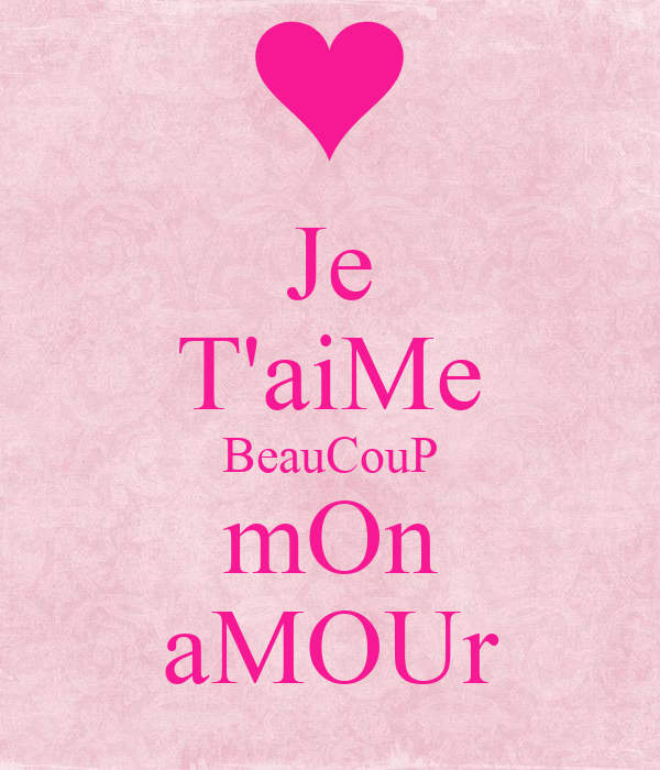 Je Taime Beaucoup Mon Amour Poster Imimanilla Keep