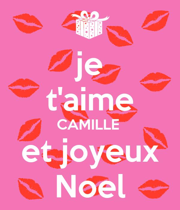 Je Taime Camille Et Joyeux Noel Poster Mémé Keep Calm O