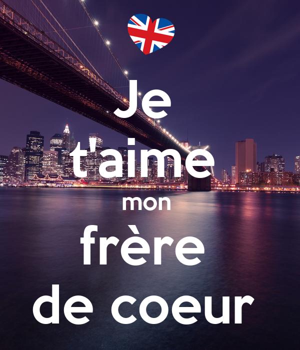 Je Taime Mon Frère De Coeur Poster Pauline Keep Calm O