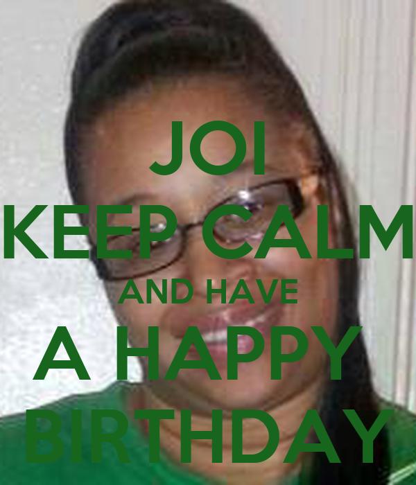 Birthday joi