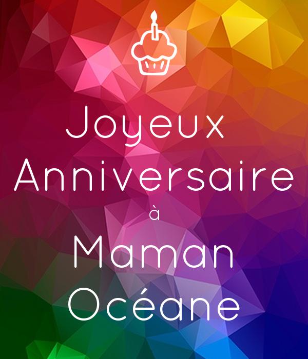 Joyeux Anniversaire à Maman Océane Poster Océane Keep