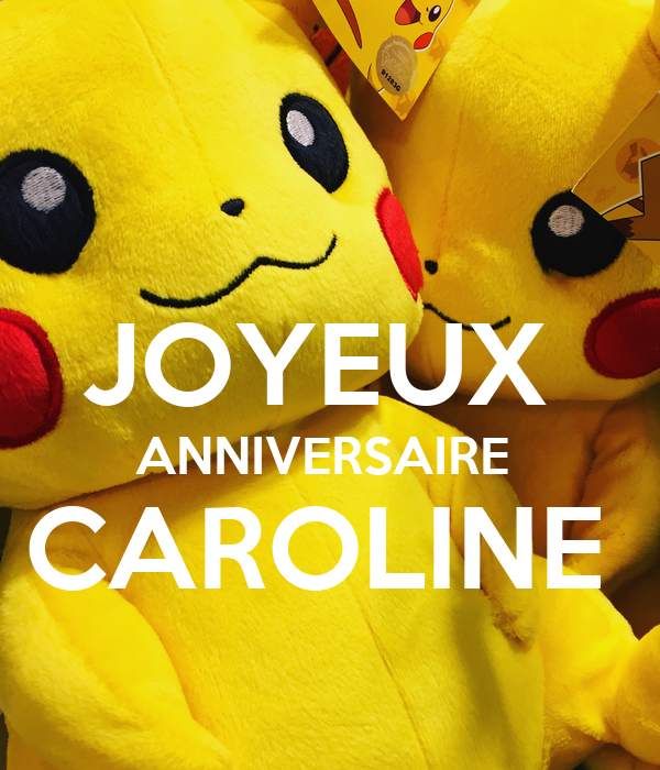 Joyeux Anniversaire Caroline Poster Coco Keep Calm O Matic