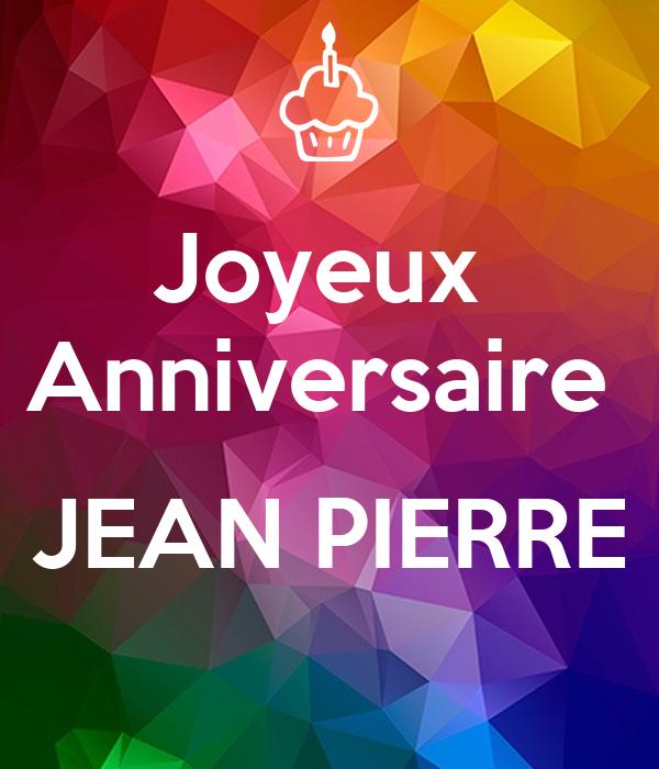 Joyeux Anniversaire Jean Pierre Poster Jean Pierre Keep Calm O Matic