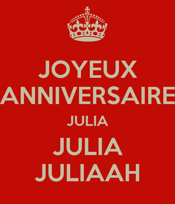 Joyeux Anniversaire Julia Julia Juliaah Poster Romain Keep Calm