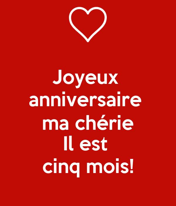 Joyeux Anniversaire Ma Cherie Il Est Cinq Mois Poster Tim Keep