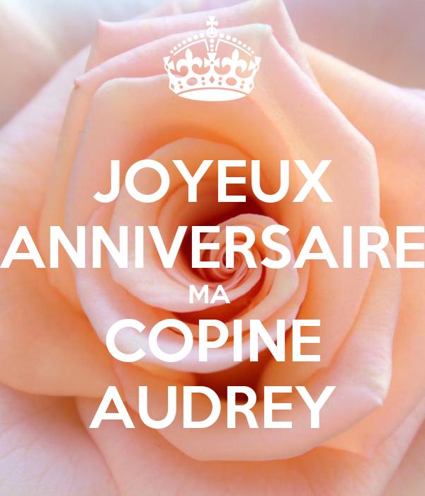 Joyeux Anniversaire Ma Copine Audrey Poster Marilyne