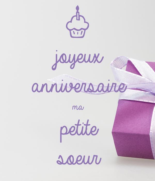 Joyeux Anniversaire Ma Petite Soeur Poster Fraikinf Keep
