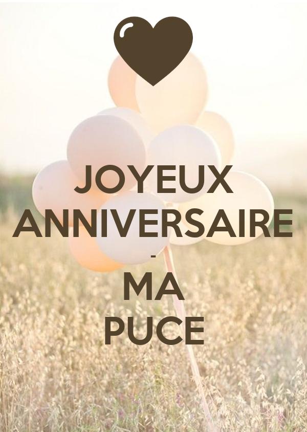 Joyeux Anniversaire Ma Puce Poster Lolo Keep Calm O Matic