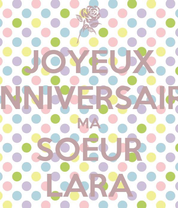 Joyeux Anniversaire Ma Soeur Lara Poster Hanan Keep Calm