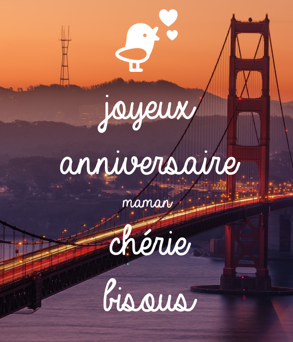 Joyeux Anniversaire Maman Cherie Bisous Poster Laura Keep Calm O